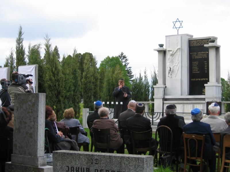 Odhalení památníku obětem Šoa 5.5.2005