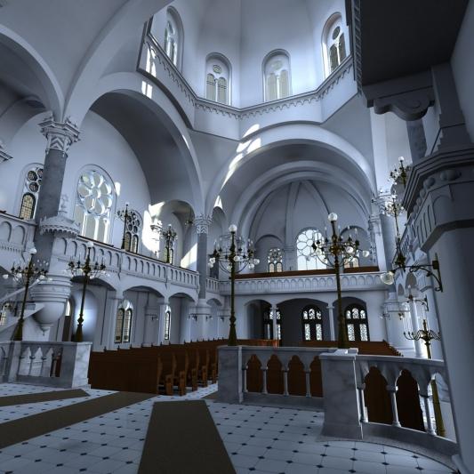 Virtuální rekonstrukce olomoucké synagogy
