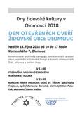 Den otevřených dveří Židovské obce Olomouc 2018