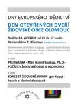 Den otevřených dveří Židovské obce Olomouc 2020