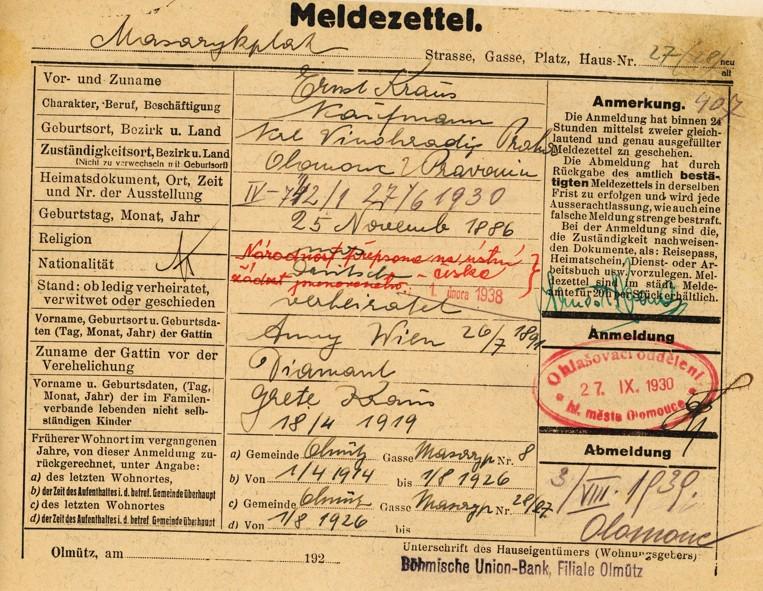 Kraus Arnošt_25.11.1886_OL_27.9.1930