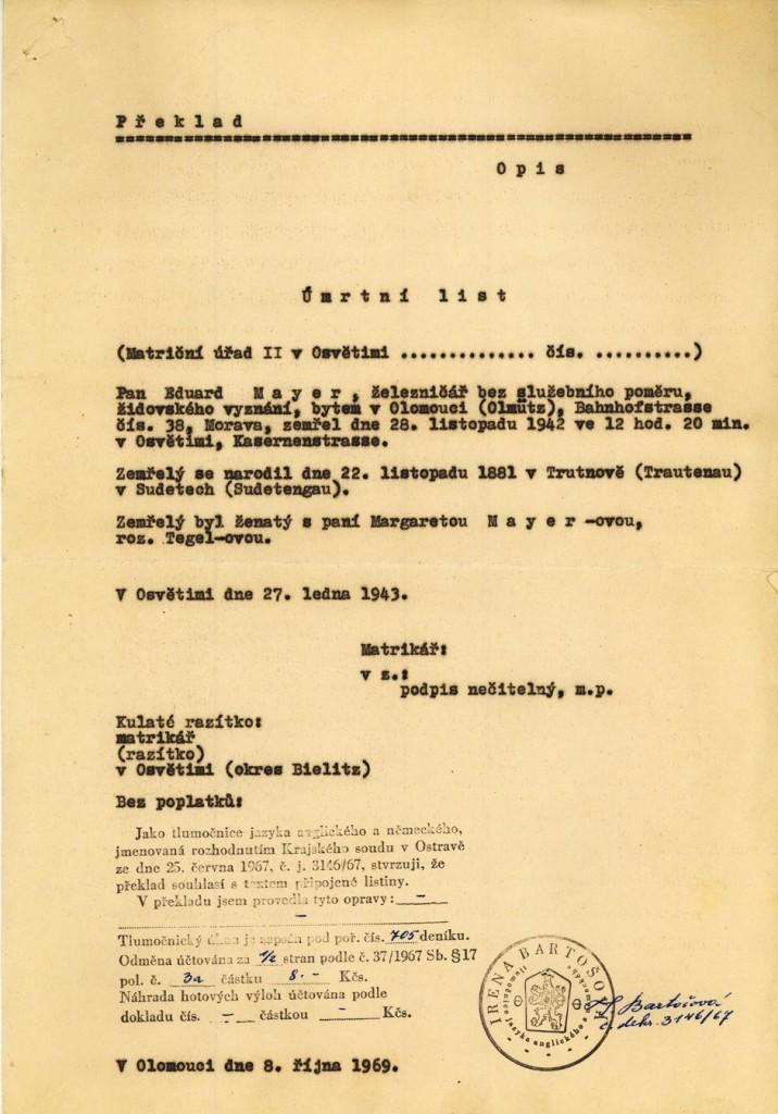 Mayer Eduard_22.11.1881_ÚL_opis_27.1.1943
