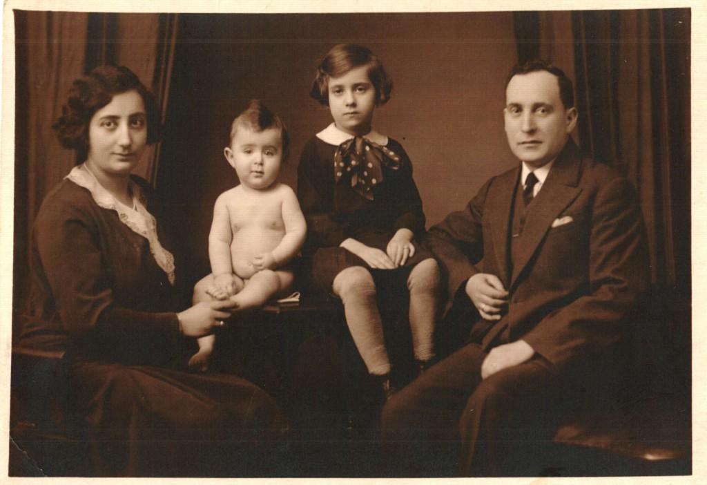 Vilém Munk s manželkou Arnoštkou a dětmi Jiřím a Editou