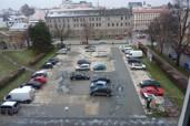 Uzavření parkoviště na Palachově náměstí