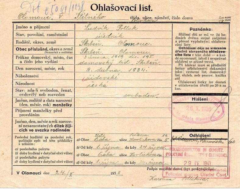 Pollak Ludvík_9.4.1884_OL_24.10.1938