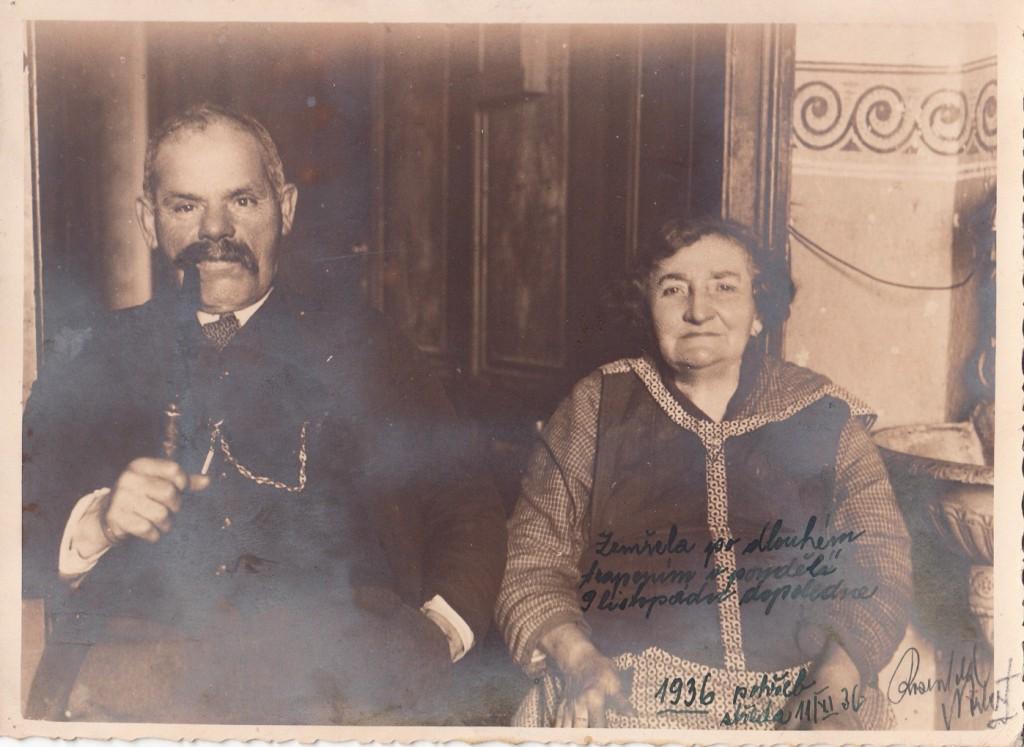 Rosenfeld Zikmund + manželka pochovaná v Přerově