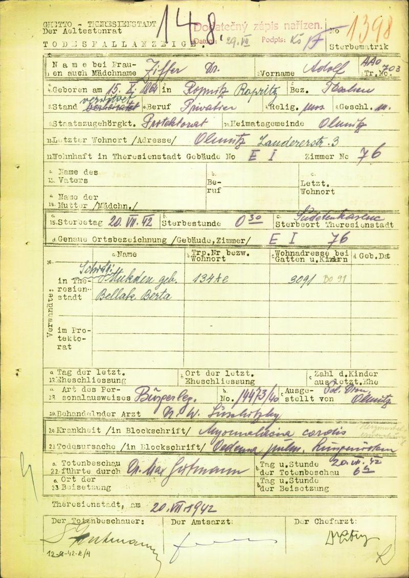 Ziffer Adolf MUDr_15.10.1864_UL_20.7.1942