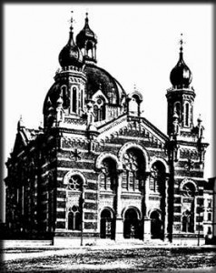 The Olomouc Synagogue, a postcard from 1900