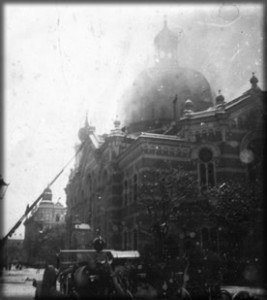 Burning Synagogue (15th March 1939)